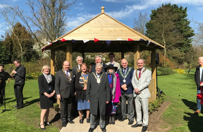 Official Opening of Buntingford Gazebo to mark HM The Queen's 90th birthday