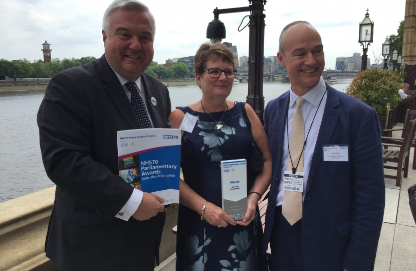 NHS70 Awards in Parliament with winners of the Care and Compassion Award, Butterfly Volunteers