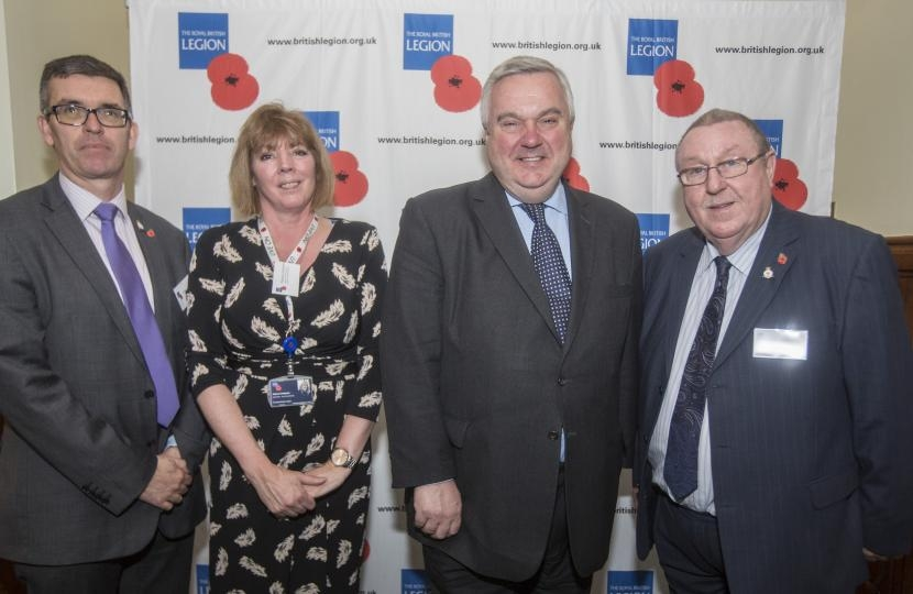 Sir Oliver Heald MP meets area manager from the Royal British Legion