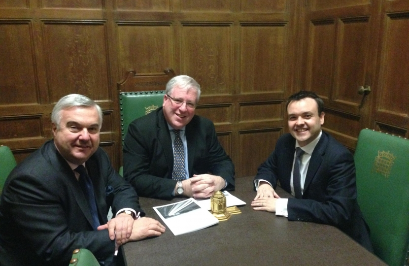 Sir Oliver with the Transport Secretary and Stephen McPartland MP