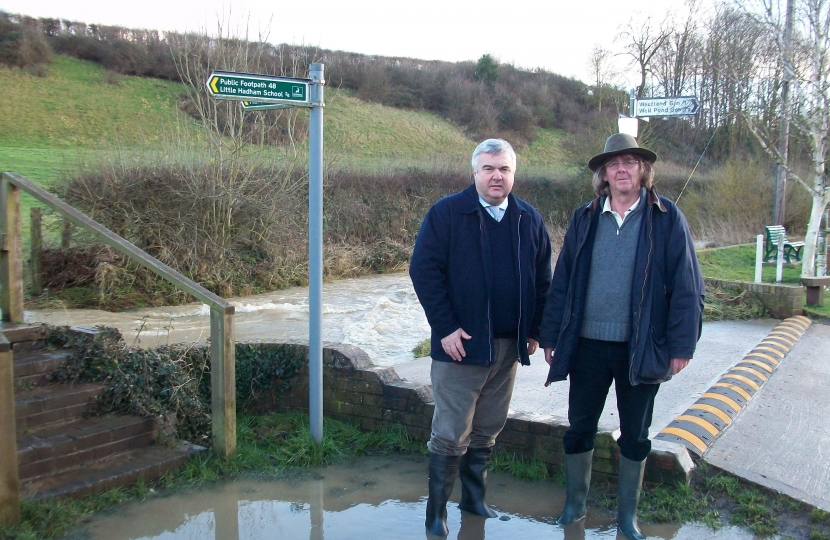 Oliver at Little Hadham to see flooded areas Feb 2014