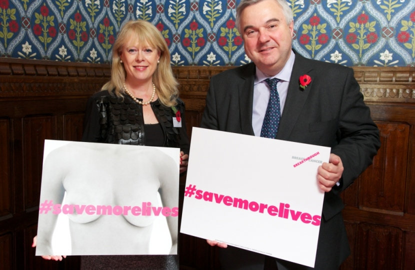 MP Supports Breakthrough Breast Cancer Campaign
