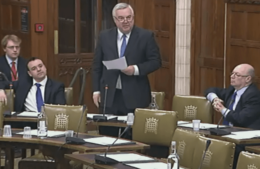 Sir Oliver calling for a Radiotherapy facility in Stevenage in a Commons debate
